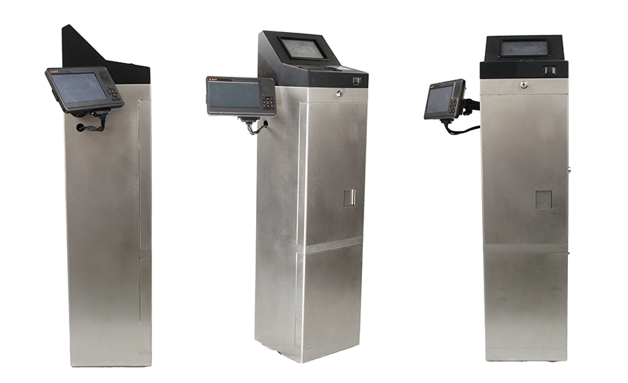 3 different views of fare boxes